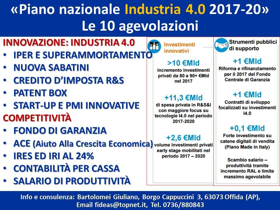 Il piano nazionale industria 4 0 2017 2020 giuliano for Scadenzario fiscale 2017