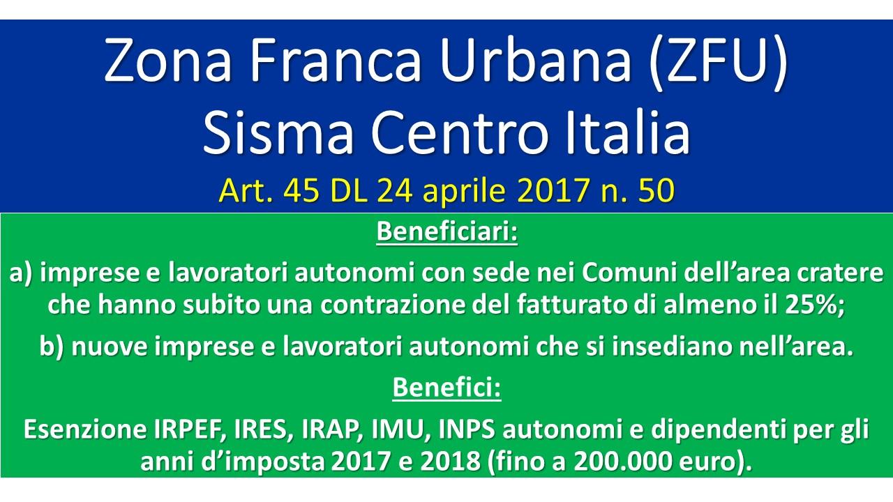 Fideas zona franca urbana zfu dl 50 giuliano bartolomei for Scadenzario fiscale 2017